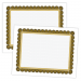 Large Certificate - 11 x 8.5, 50 Certificates, Border Color = Black and Gold PMS 126