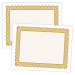 Large Certificate - 11 x 8.5, 50 Certificates, Border Color = Gold PMS 126