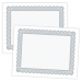 Large Certificate - 11 x 8.5, 50 Certificates, Border Color = Silver PMS 430