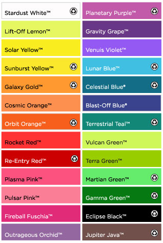 Astrobrights Color Chart